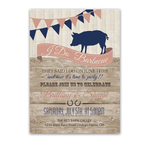 I DO BBQ Country Wedding Reception Only Invitation