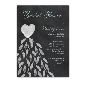 Chalkboard Bridal Shower Invitation Wedding Dress