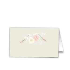 Floral Baby's Breath Wedding Escort Seating Cards