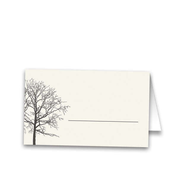 Rustic Winter Tree Wedding Guest Escort Seating Cards