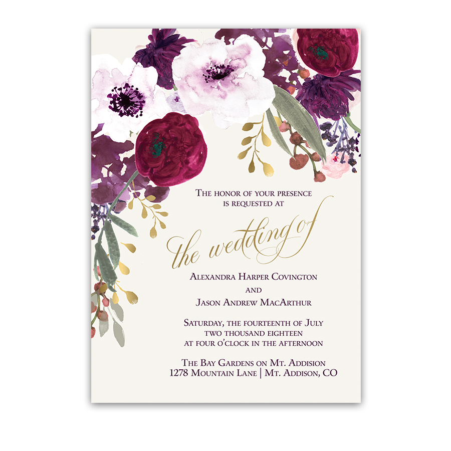 Flower Wedding Invitations 002 - Flower Wedding Invitations
