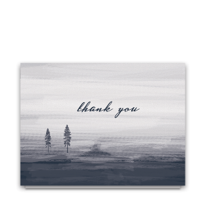 Modern Minimalist Navy Blue Wedding Thank You Card