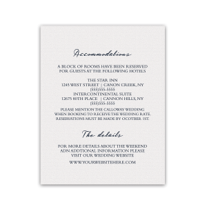 Modern Wedding Additional Information Insert Card