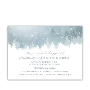 Winter Wonderland Rustic Engagement Party Invitation