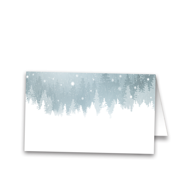 Winter Snowflake Wedding Escort Seating Cards