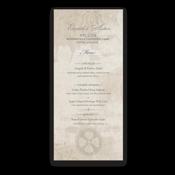 Steampunk Wedding Vintage Industrial Chic Menus