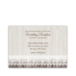 Sunflower Wedding Reception Details Card Barn Wood Lace