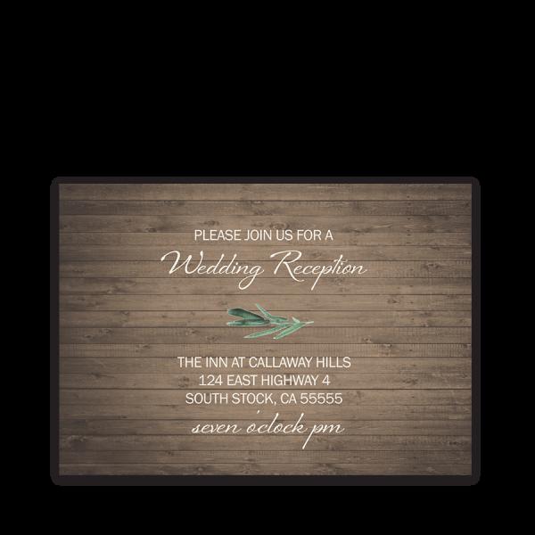 Rustic Barn Wood Wedding Reception Details Card