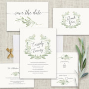 Watercolor Floral Wedding Invitations Inspirations