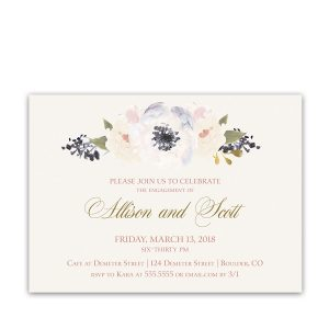 Boho Floral Watercolor Engagement Party Invitation