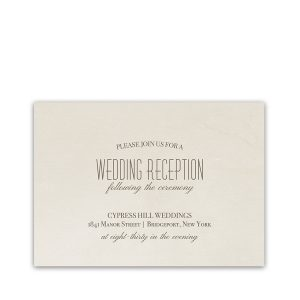 Fall Tree Wedding Coordinating Reception Card