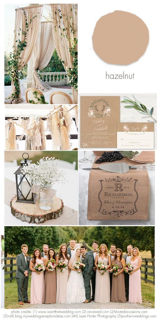 Hazelnut 2017 Wedding Idea Inspirations