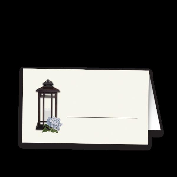 Rustic Metal Lantern Wedding Table Seating Cards