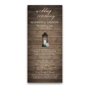 Rustic Lantern Wedding Program Order of Service