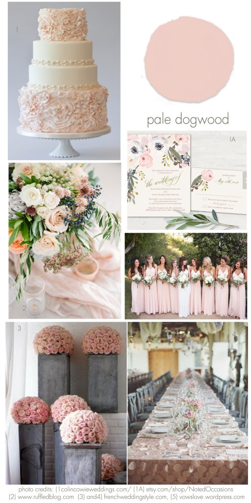 Pale dogwood wedding idea inspirations
