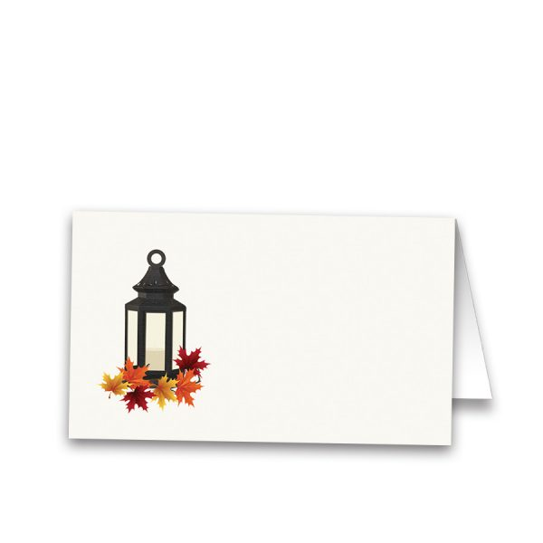 Rustic Fall Lantern Wedding Table Guest Seating Cards