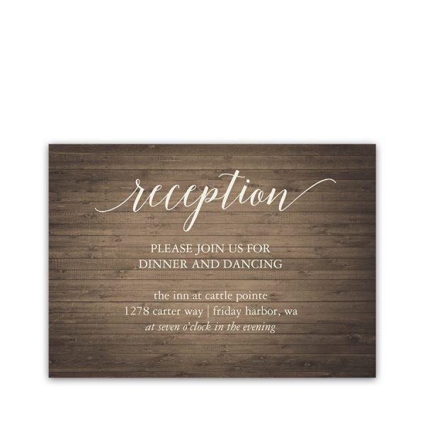 Rustic Birdcage Wedding Coordinating Reception Cards
