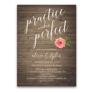 Watercolor Floral Wedding Rehearsal Dinner Invitation