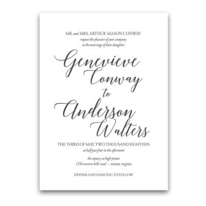 Modern Script Calligraphy Wedding Invitations