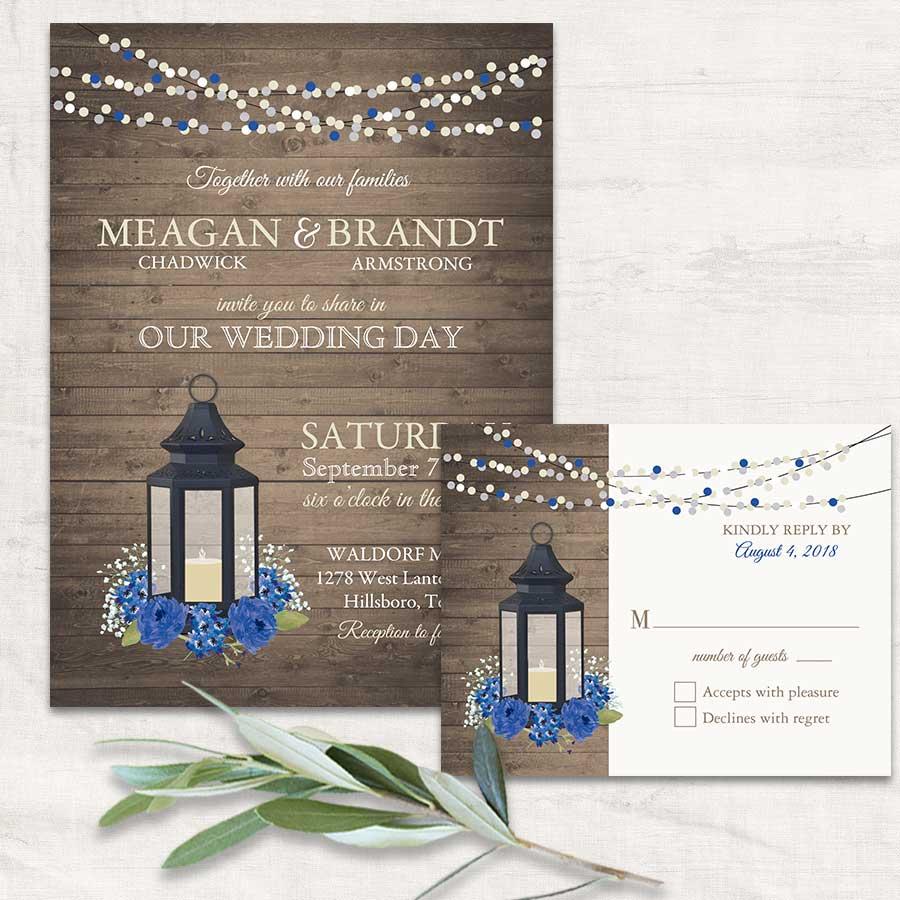 2017 Wedding Invitations Trends Metal Lanterns