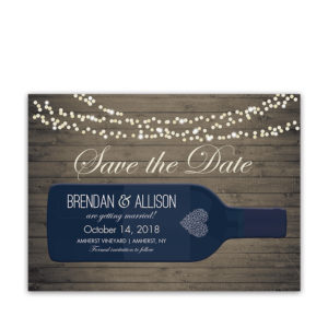Vineyard Wine Bottle Save the Date Cards