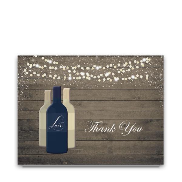 Vineyard Wine Bottle Wedding Thank You Cards