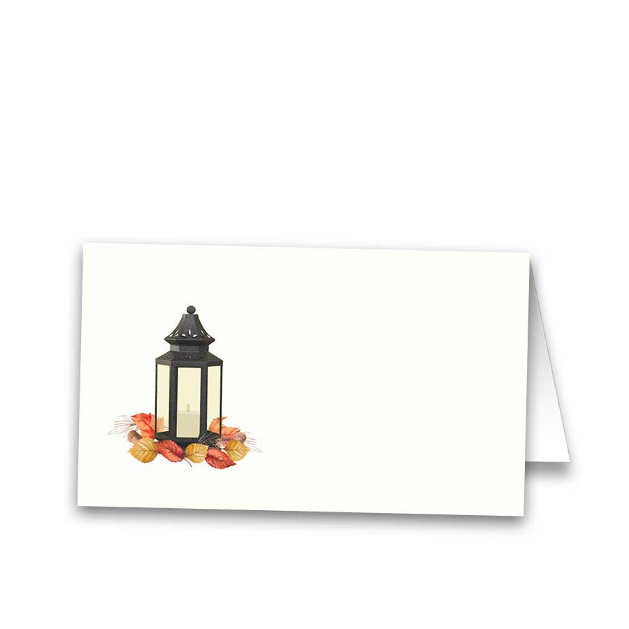 Tented Wedding Escort Seating Cards Fall Lantern