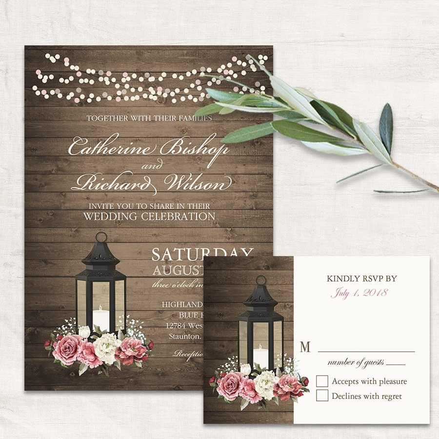 2017 wedding invitations trends metal lanterns - Lantern Wedding Invitations