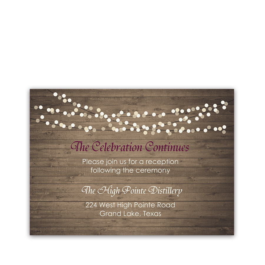 Rustic Fall Wood Wedding Reception Information Cards