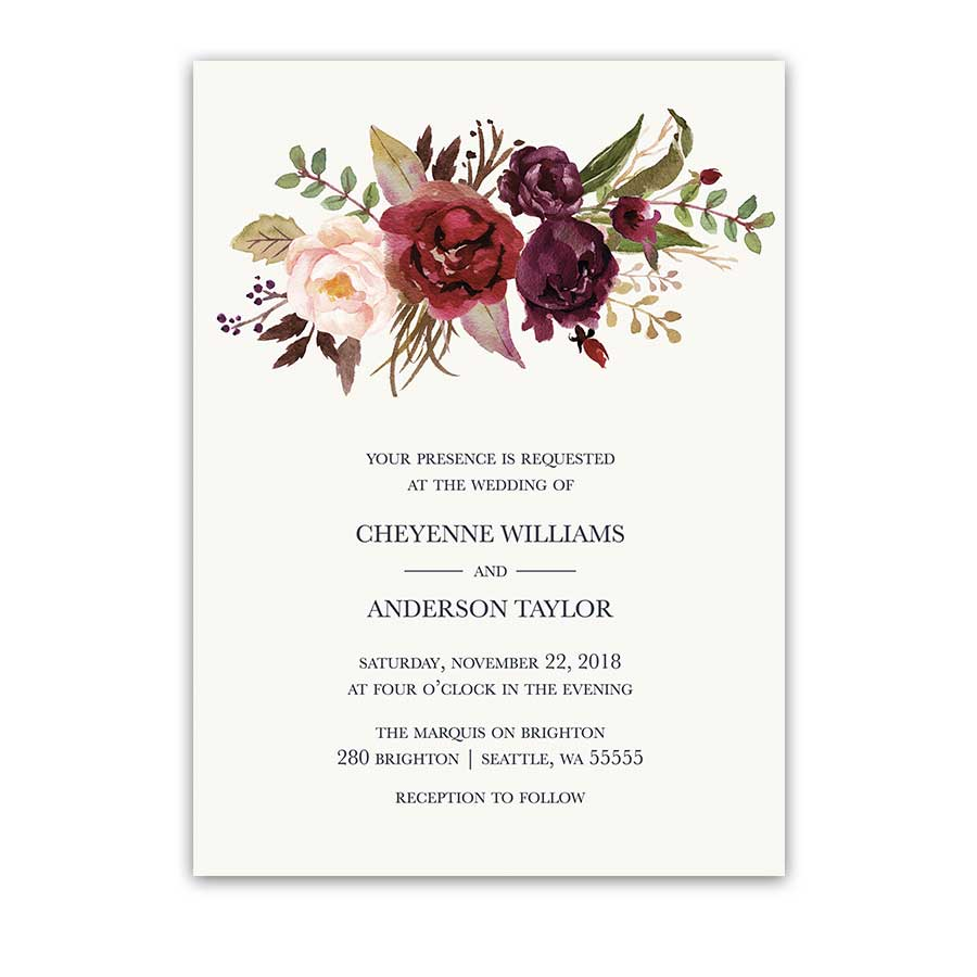 Flower Wedding Invitations 009 - Flower Wedding Invitations