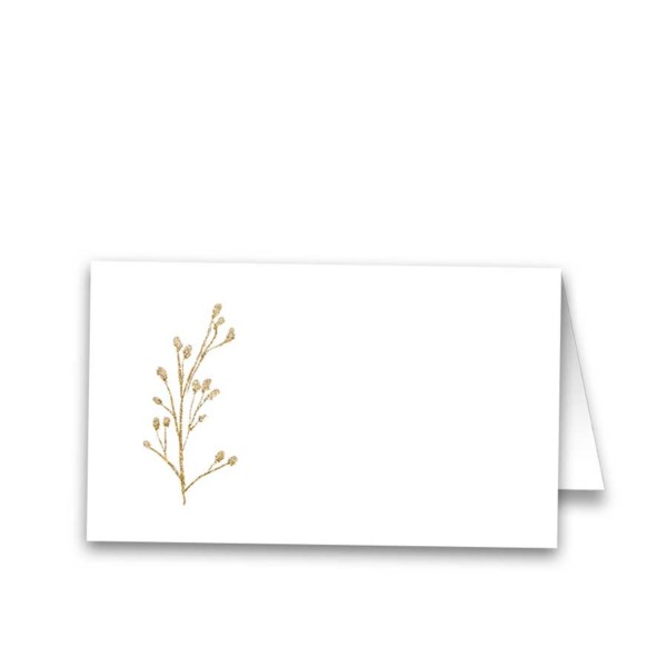 Gold Floral Wedding Guest Escort Table Seating Cards
