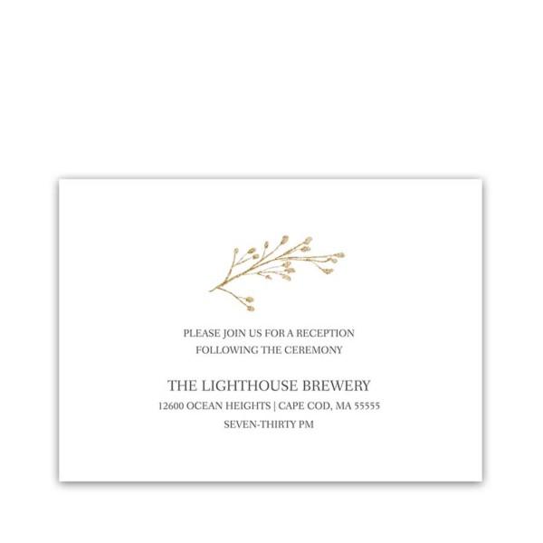 Gold Floral Wedding Reception Information Cards