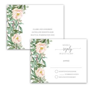 Wedding Response Postcards Blush Floral Design