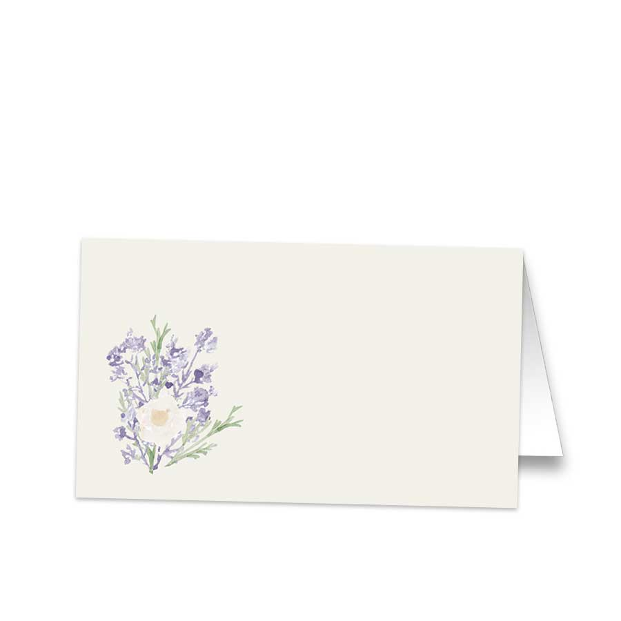 Lavender Bouquet Wedding Table Seating Cards