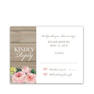 I DO BBQ Wedding Reception Only RSVP Response Card