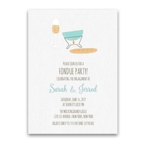 Fondue Engagement Party Invitation Couple's Shower