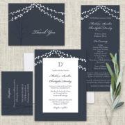 Navy blue wedding invites