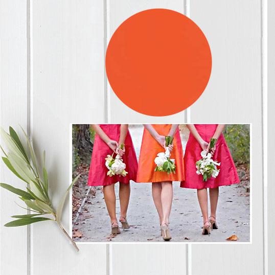 Orange Wedding Inspirations Its an Orange Crush