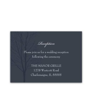 Navy Blue Wedding Reception Details Cards