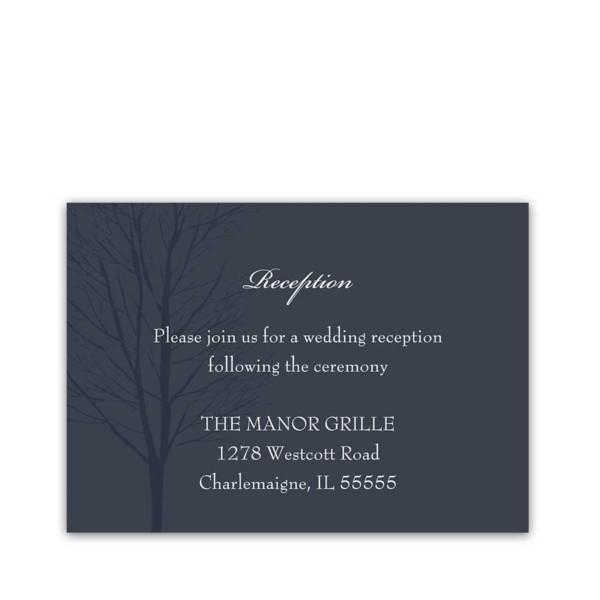 Navy Blue Wedding Reception Details Cards