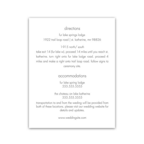 Wedding Invitation Enclosure Cards Winter Theme