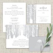 Winter Themed Tree Wedding Invitations Christmas Wonderland
