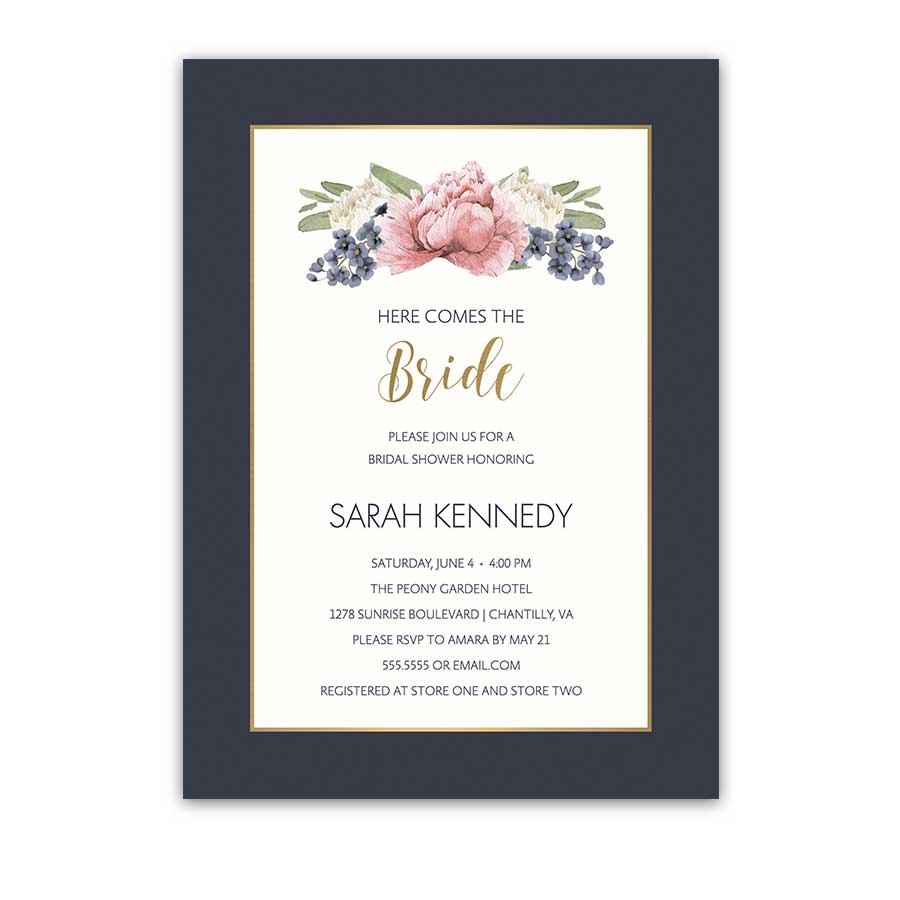Floral Wedding Shower Invitations 2018 Wedding Trends