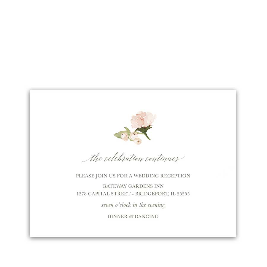 Wedding Reception Information Cards 2018 Wedding Colors