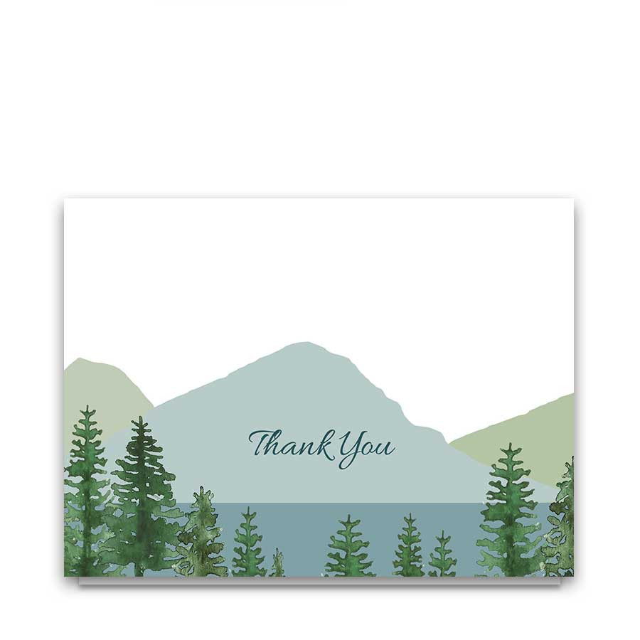 Mountain Wedding Thank You Cards for Outdoor Weddings