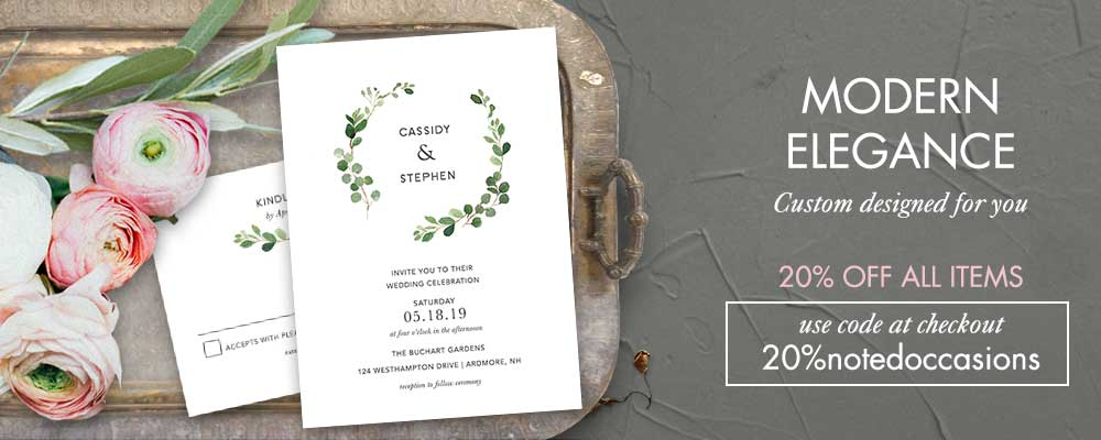 Custom wedding invitations by notedoccasions