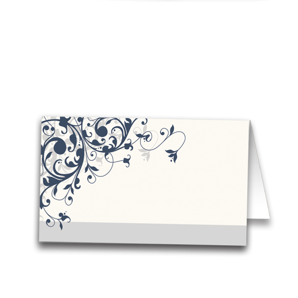 Taylor Suite Place Card Navy Blue Swirl