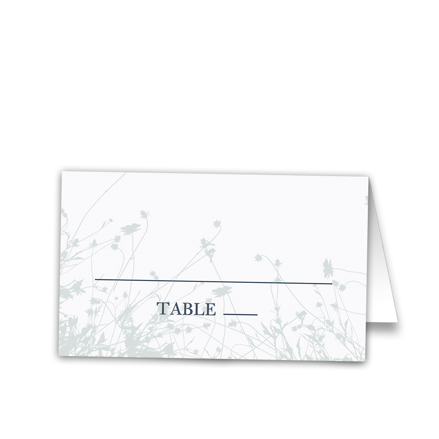 Wildflower Floral Wedding Place Seating Cards
