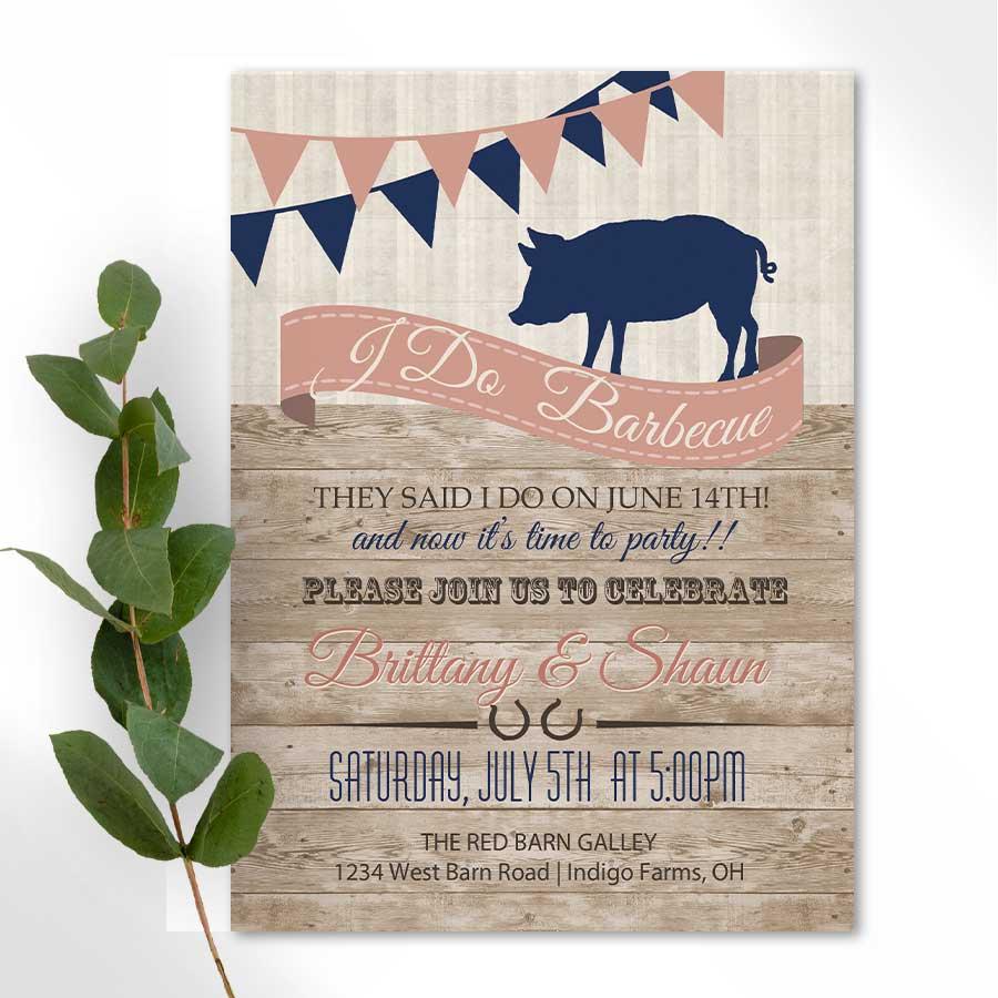 I DO BBQ Wedding Reception Only Invitation