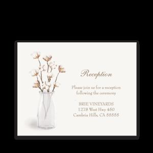 Rustic Cotton Theme Wedding Reception Insert Card